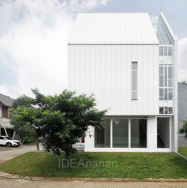 """""""แบบบ้าน3ชั้น สไตล์โมเดิร์น A House"""