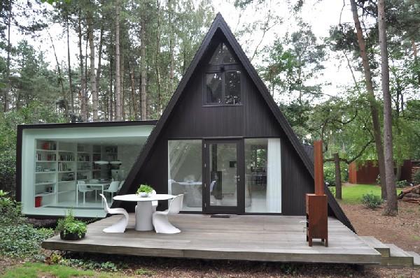 แบบบ้าน ชั้นเดียว สีดำสวยทันสมัย ขนาด 26 ตารางเมตร
