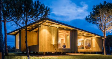 แบบบ้านไม้ชั้นเดียว ยกพื้น Home Barrocas Pavilion