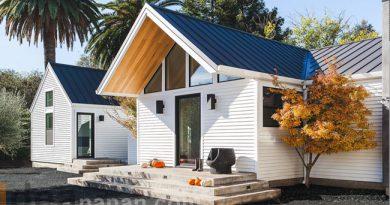 แบบบ้านไม้ สีขาว ชั้นเดียว Farmhouse