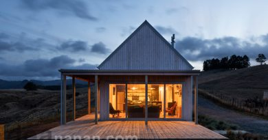 แบบบ้านชั้นเดียวรีสอร์ท Karangahake House