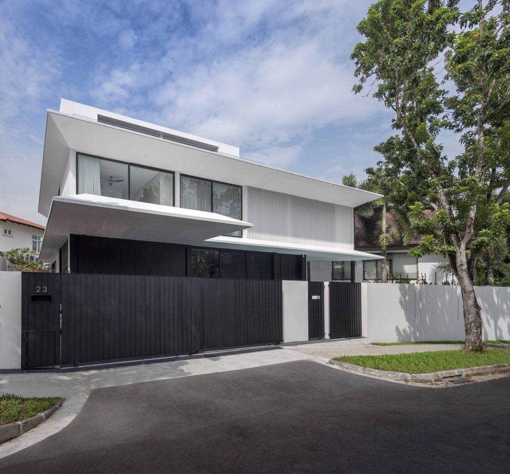 แบบบ้านสองชั้นสวยๆ Eave House-