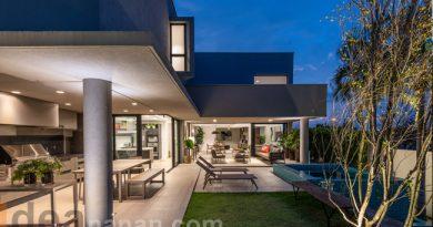 แบบบ้านสองชั้น บ้านสีเทา Quadra House