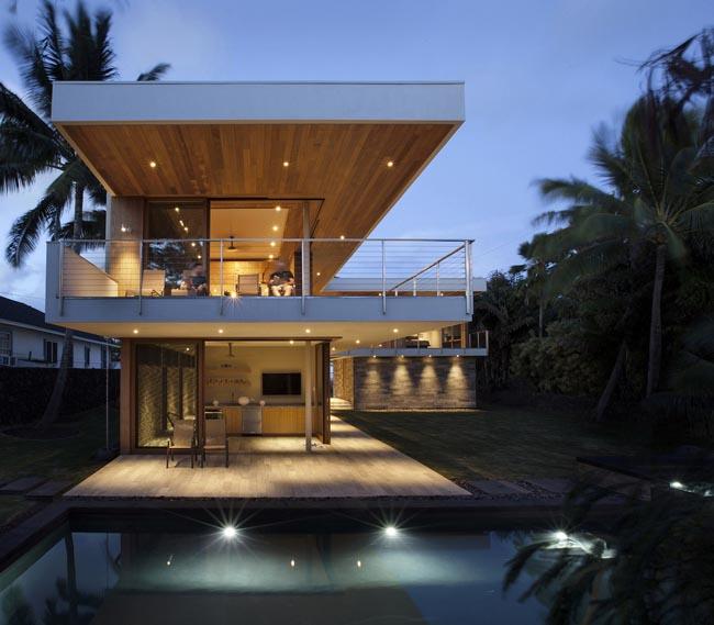 แบบบ้านรูปตัวแอล Island House