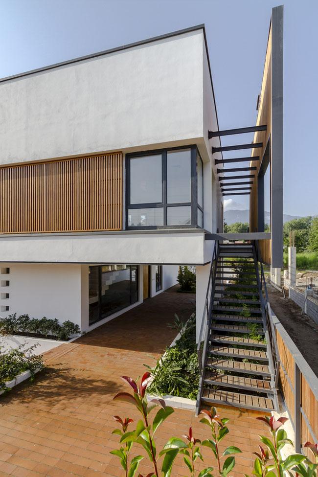 บ้านสีขาว โมเดิร์น Courtyards Villa