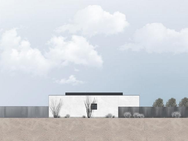 แบบรูปด้านหลังแบบแปลนบ้านชั้นเดียว