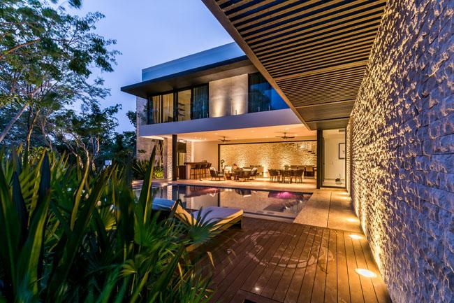 บ้านสองชั้น ผนังโค้ง Ecomaya House