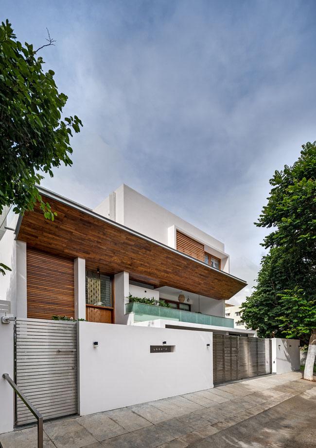 แบบบ้านสวยๆ ออกแบบทันสมัยตกแต่งด้วยไม้ บ้าน 2ชั้น