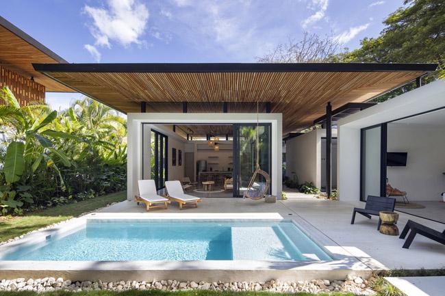การออกแบบบ้านเน้นความโปร่งดูเบาสบายตา