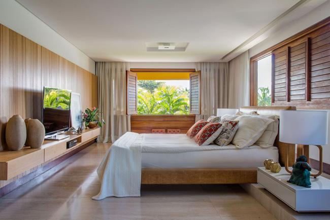 ห้องนอน แบบบ้านสวยๆ สไตล์รีสอทร์ท